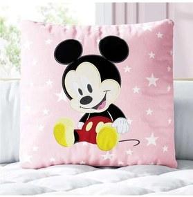 Almofada Mickey Mouse Baby Rosa Estrela Disney Grã