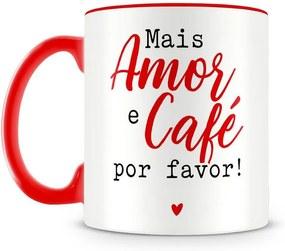 Caneca Personalizada Mais Amor e Café