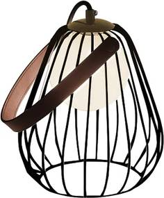 abajur LAMP metal preto 1Xbipino  18cm Bella ML001B