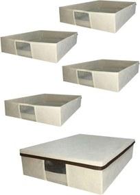 caixa organizadora para sapato e botas com visor transparente kit com 5