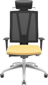 Cadeira Twister Presidente Base Alumínio e Porta Paletó -