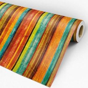 Papel de parede adesivo madeira colorida