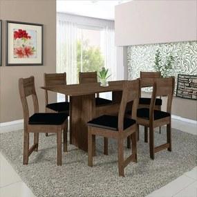 Mesa de  Jantar 6 lugares NEW Talita Indekes Noce preto
