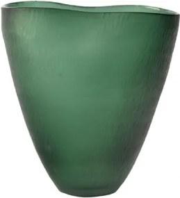 Vaso de Vidro Verde Estilo Pote