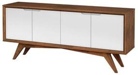 Buffet Querubim 4 Portas Pinhão e Branco - Wood Prime MP 27598