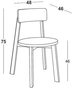 Cadeira Rupin em Madeira Maciça - Rosa Magenta