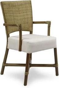 Cadeira Handera C/Braço em Madeira Apuí C/Fibra Rattan