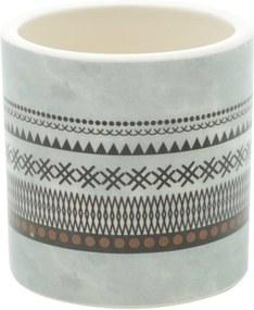 Vaso de Cerâmica Cinza 7cm Aztec Hut Urban