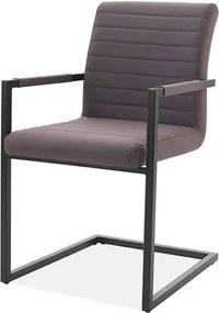 Cadeira Ferrara Marrom com Braco Base Aco Preta - 59512 Sun House