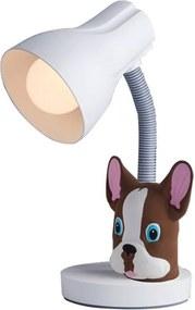 Luminária de Mesa Pets Buldog Marrom 33cm - 110300002 - Startec
