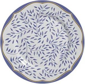 Prato de Sobremesa Coleção Branch Azul Suave