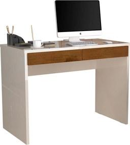 Escrivaninha Jb 6080 Luxo Perola/Caramelo