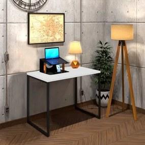 Mesa Para Escritório Diretor Estilo Industrial Vintage | Tam: 80x60|Cor: Branco