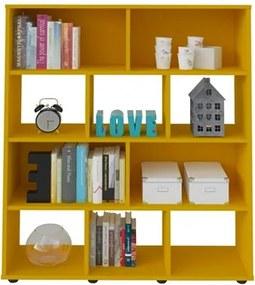 Estante Livreiro Book com Nichos Amarelo - Artely