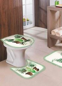 Jogo de Banheiro Floral Verde 4 Peças