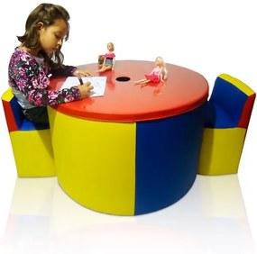 Mesinha Kids com 2 Cadeiras Infantis - Colorido