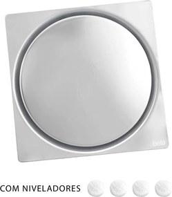Ralo Click Inteligente de Banheiro 10x10 cm (Inox Espelhado)