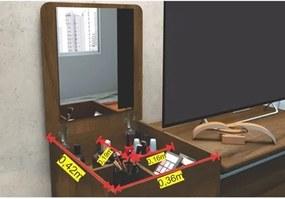 Cômoda 4 Gavetas com Espelho Munique Cedro - Albatroz