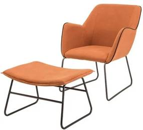 Conjunto Poltrona + Apoio Elite Tangerine Base Preta 84 cm - 60081 Sun House