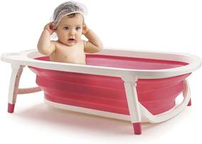 Banheira Dobravel Flexi Bath Rosa Multikids Baby