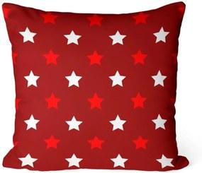 Almofada Love Decor Avulsa Decorativa Estrelas Natalinas Vermelhas