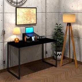 Mesa Para Escritório Diretor Estilo Industrial  Vintage | Tam: 120x60|Cor: Preta