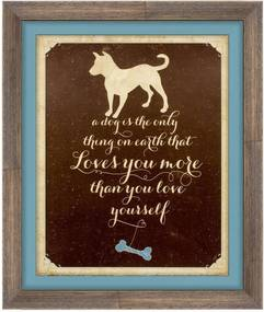 Quadro Decorativo Pet Dog Amor 25x30cm