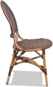 Cadeira Potosí Importada em Madeira Malaca C/Fibra Rattan