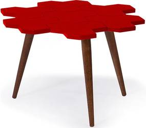 Mesa de Centro Colméia Vermelha
