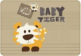 Tapete de Atividades Infantil Baby Tiger Único Marrom
