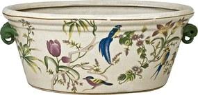 Centro de Mesa em Porcelana Desenho Decorativos Pássaros