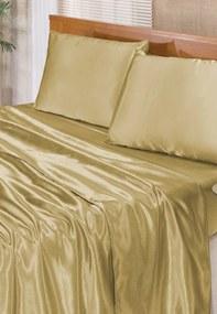 Jogo de Lençol Bia Queen Cetim 4 Peças Romantic - Dourado