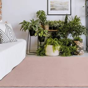 Tapete Decorativo Sala de Estar Conforto 200x300 Rosa - Gran Belo