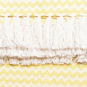 Manta para Sofá Campestre Missoni de 1,50 x 1,40 m Amarela