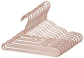 Kit 144 Cabide Luxo de alumínio Cor Rosa
