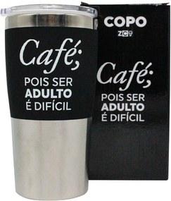 Copo Viagem Ser Adulto Café Pois Ser Adulto é Difícil