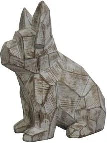 Cachorro Origami de Resina