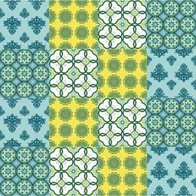 Adesivo Azulejo Floral Verde 140114