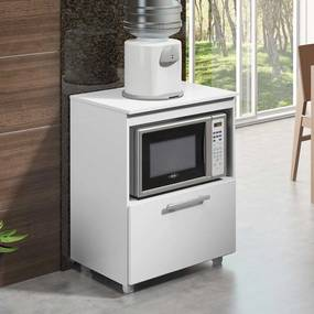 Armário de Cozinha P/ Cooktop 4 e 5 Bocas 5007 Branco Premium - Multimóveis