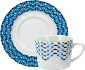 Xícara Chá C/ Pires Porcelana Schmidt - Dec. Anna