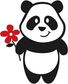 Adesivo de Geladeira Panda Flor