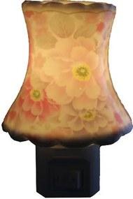 Aromatizador Elétrico Flores Cor de Rosa em Porcelana - 220v