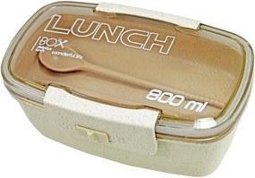 Pote Marmita Lunch Box 800ml Com Divisória - Bege - Jacki Design