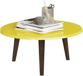 Mesa De Centro Brilhante Amarelo - Móveis Bechara