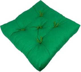 Futon Fio Tinto Algodão Verde 48X48X10Cm