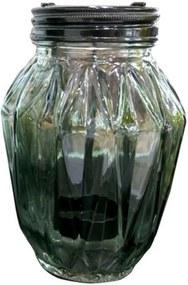 Castiçal de Vidro Urban Cinza Verde
