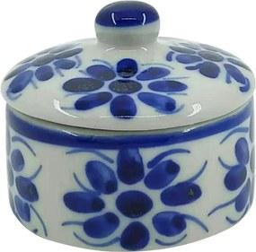 Porta Jóias em Porcelana Azul Colonial