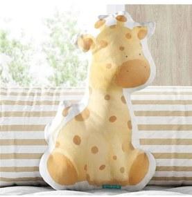 Almofada Girafa Safári Aquarela Grão de Gente Amar