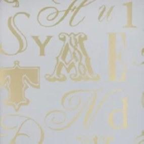 Papel De Parede Letras Dourado Risky Business Rb4276