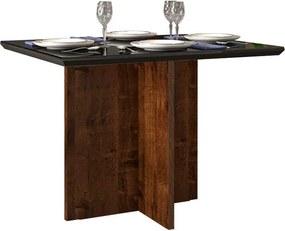 Mesa de Jantar Aura para 4 Cadeiras 108cm Rústico Malbec Preto